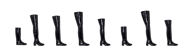 rubber heel boots