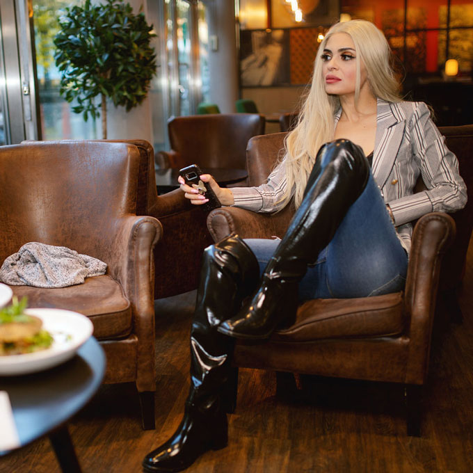 rubber latex boots
