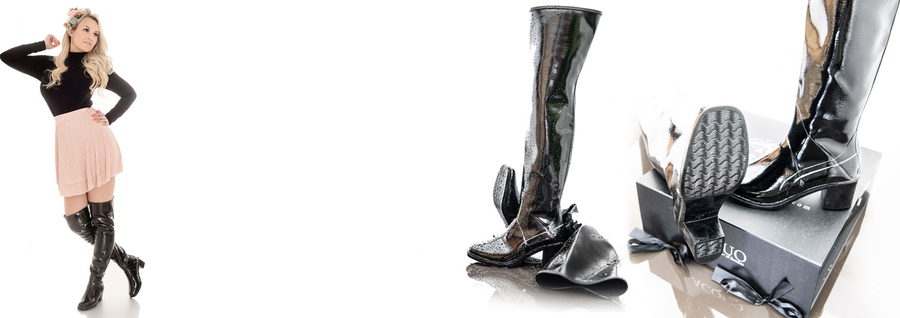 ACQUO Exclusive Thigh high natural Rubber boots